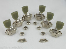 NICKEL VINTAGE MACHINE HEADS 3 a-side TUNERS for Gibson Style guitars
