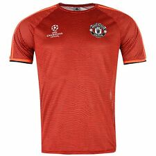 Adidas Manchester United FC Champions League Training Jersey Mens Red/Blk Shirt