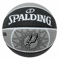 Spalding San Antonio Spurs NBA Team Basketball Grey/Black Hoops Ball