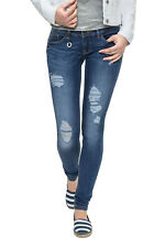 Only Damen Skinny Jeans Röhrenjeans Damenjeans Stretch Jeanshose Destroy Denim