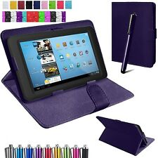 "Universal Leather Cover Case Fits Lenovo Tab 2/ 3 - 7"" 8"" & 10.1"" inch Tablets"