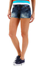 Only Damen Destroyed Jeans-Shorts Freizeit-Shorts Sommer-Shorts Kurze Hose - 70%