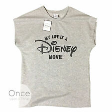 PRIMARK ADULT Ladies MY LIFE IS A DISNEY MOVIE Sparkly T Shirt