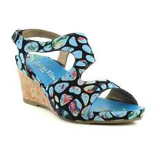 Laura Vita SL140356-2A Vapeur Womens Slip-On Wedge Sandals Turquoise