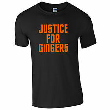 Justice for Gingers T-Shirt - Funny Ginge Hair Colour Joke Summer Gift Mens Top