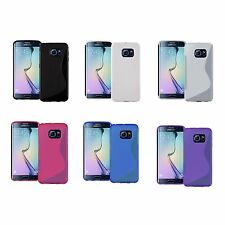 PER SAMSUNG GALAXY S7 EDGE SILICONE GEL TPU in vari colori Custodia cover