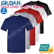 5 Pack Plain Blank Gildan 100% Heavy Cotton T-shirt Tshirt Multi Colors in Stock