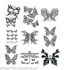 1 Schablone HEIKE SCHÄFER Create your Fashion Textil Stencil SCHMETTERLINGE