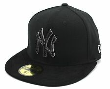 NEW ERA - 59FIFTY FITTED CAP. DIAMOND SUEDE NEW YORK YANKEES. BLACK/BLACK