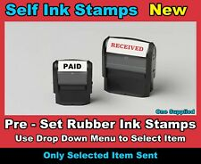 Pre-Set Self Ink Rubber Stamp - Business Address School Name Accounts Received
