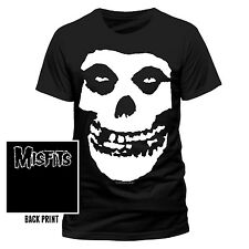 MISFITS Maglietta T-Shirt SKULL WITH BACKPRINT M,L,XL+XXL Nuova
