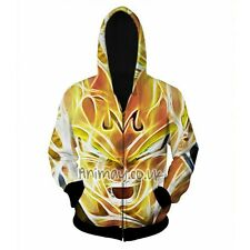 DRAGON BALL Z ANIME SUPER SAIYAN MAJIN VEGETA HD 3D HOODY HOODIE SWEATSHIRT