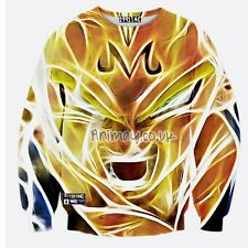 DRAGON BALL Z ANIME SUPER SAIYAN MAJIN VEGETA HD 3D JUMPER SWEATSHIRT