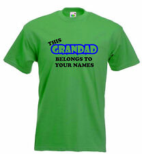 GRANDAD BELONGS T-SHIRT FUNNY TSHIRT PERSONALISED T SHIRT PRESENT S-XXL
