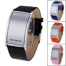 OROLOGIO DA POLSO DIGITALE LED UOMO DONNA LEATHER BRACCIALE WRIST WATCH GIFT NEW
