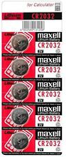 5, 10, 15, 20 Genuine Maxell Battery CR2032 Lithium Watch Cell 3v Coin Batteries