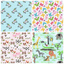 KIDS CRAFT FABRIC FAT QUARTERS METRES  POLYCOTTON CHILDRENS FABRIC GIRLS BOYS