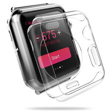 38/42mm Apple Watch iWatch Transparent Case & Tempered Glass Screen Protector