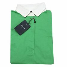 A0399 maglia donna GANT verde polo t-shirt sleeveless women