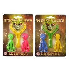 Sticky Aliens Catapults Stretchy Toys Sling Shots Party Bags (1, 6, 12 or 30)