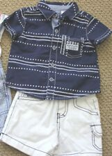 GUESS Jeans 3 6 9 M Shorts Overall Shirt Tee Top S/S Boy's Options FREE Ship NWT