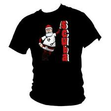 Festive funny Scuba Diving SANTA / FATHER CHRISTMAS gift mens T-shirt all size