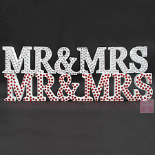 MR and MRS LETTERS | DIAMANTE Wedding White Mr & MRS Letters Sign Diamonte