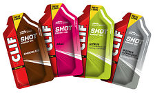 Clif Shot Energy Gel - Box of 24 Carbohydrate Gels - 5 Delicious Flavours