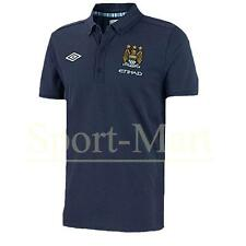 Boys Manchester City Matchday Training Match Polo Shirt Navy Blue Size