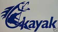 KAYAK FISHING  STICKER/DECAL Kayaking/Canoeing/Watersports/Sit On Top