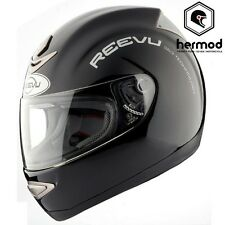 Reevu RV MSX1 Rear View Vision Full Face Motorcycle Motorbike Helmet - Black