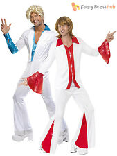 Mens Super Trooper Disco Fever Flares 70s 1970s Fancy Dress Costume Adults