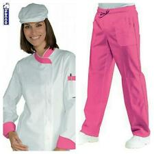 COMPLETO CUOCA DONNA ISACCO GIACCA LADY SNAPS+PANTALONE A SCELTA CHEF WOMAN SET