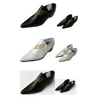 Childrens Boys Black Slip On Formal Wedding Prom Page Boys Kids Shoes for suits