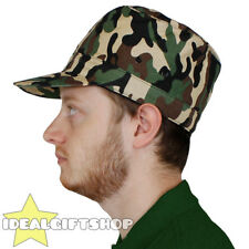 ARMY HAT CAMO FANCY DRESS ACCESSORY MILITARY STYLE CAMOUFLAGE CAP WHOLESALE LOTS