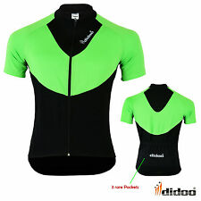 New Men's Cycling Short Sleeve Shirts Team Bike Riding Jersey  Race Fit Top