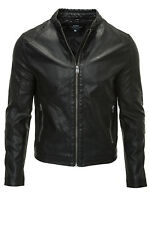Jack & Jones Herren PU Leder Jacke Kunstlederjacke Men Biker Jacket Black -%