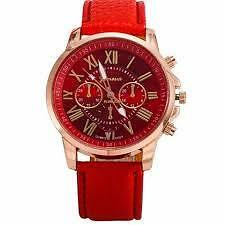 Women Leather Watch Ladies Watches Roman Numerals Casual Quartz Wrist Watches