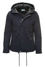 Selected Herren Winterjacke Men Jacket Cotton Parka Blue Navy - 40% Sale