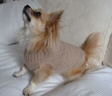"10"" Male / Unisex Hand Made Small Dog/Puppy/Tea Cup Chihuahua Jumper/Coat DK"