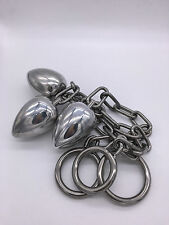 *** HEAVY MALE STAINLESS STEEL BUTT_PLUG ANAL_TOY WITH PENIS_RING 3 SIZES ***