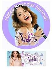 Disney Violetta 7 Inch Personalized Edible Cake toppers cupcakes Precut + Banner