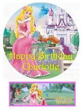 Disney Sleeping Beauty Aurora Princess Personalized Edible Cake toppers Precut
