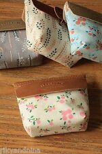 LIFESTYLE Linen  & Pu Coin Purse kawaii fabric pouch wallet makeup accessory bag