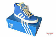 Adidas Originals Honey Mid Womens Blue Suede Mid Top Trainers Size UK 4.5 & 7.5