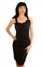 Rose Lace Wiggle Dress 8 12 Pin Up Pencil Dress - Rockabilly retro vintage style
