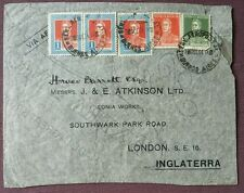 1934 Argentina Commercial Air Mail Cover To London, GB, Buenos Aires Cancel.
