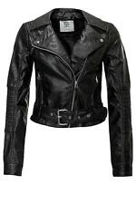 Vero Moda Damen PU Leder Jacke Biker Women Leather Short PU Jacket Black SALE
