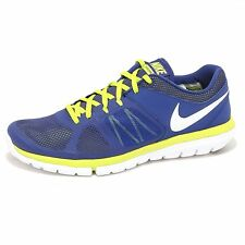 1644P sneaker uomo NIKE FLEX blu/giallo shoe men