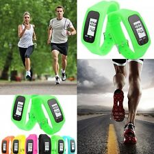 Digital LCD UK Pedometer Wrist Run Walking Step Distance Calorie Counter Fitness